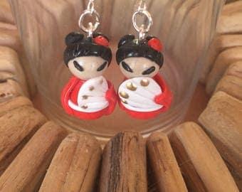 kokeshi earrings reserved