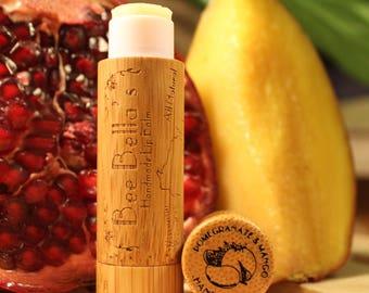 6 Pack - Pomegranate & Mango Organic Lip Balm - Extra Large