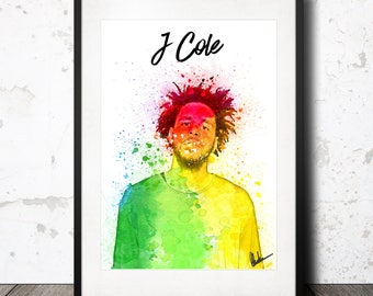 J Cole Poster Print - Limited edition! Hip Hop Art - Great gift for any music lover!