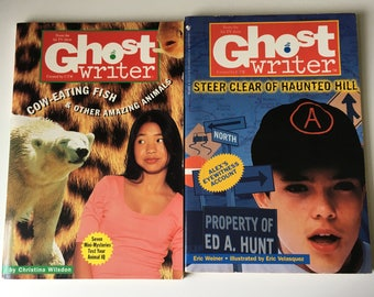 1996 Ghost Writer novelization chapter books based on the TV show Children's Television Network