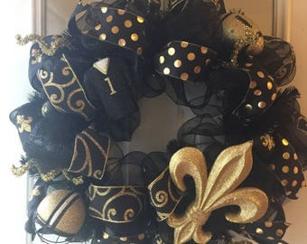 Who Dat Wreath