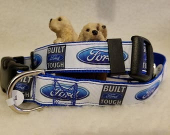Automotive Handmade Dog Collar 1 Inch Wide Large & Medium