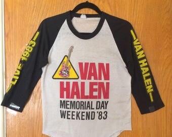 Van Halen 1983 Memorial Day Vintage Concert Jersey