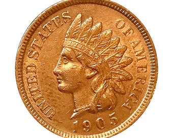 1905 Indian Head Cent - AU / BU - 3 1/2 Diamonds