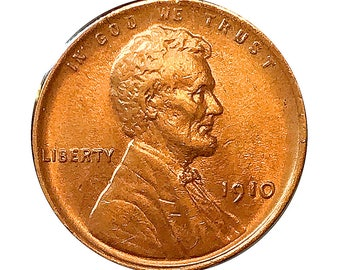 1910 P Lincoln Wheat Cent - Choice BU / MS / Unc