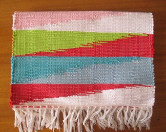 Handmade woven placemats | Multicolors placemats | Set of 2 | Home decor | Kitchen decor |