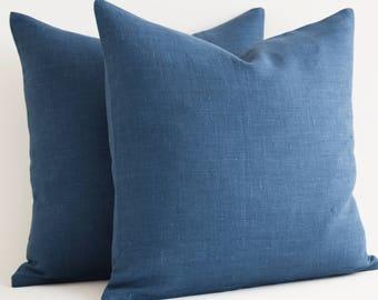 Wholesale! 16x16 Navy Blue Pillow Covers - Decorative Throw Pillow Covers - Navy Blue Cushion Cover - Blue Pillows - Solid Navy Pillow Cover