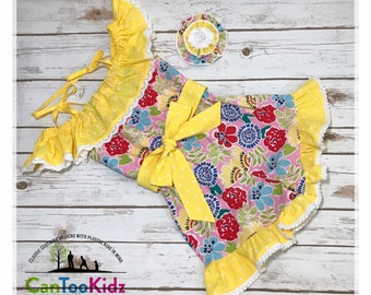 Romper outfit, pink lemonade, summer outfit, sassy romper, ruffles