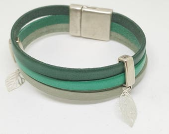 """""""Forest"""" leather strap"""