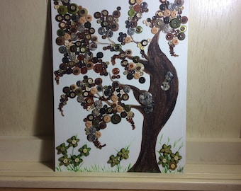 The Button Tree Canvas