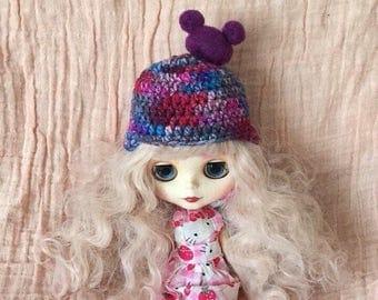 Blythe hat, Blythe beanie, Blythe helmet, Blythe crochet hat