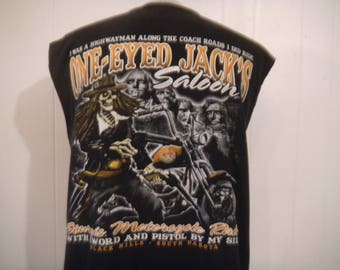 Vintage t shirt, Harley Davidson t shirt, Motorcycle t shirt, One Eyed Jacks, Sturges South Dakota, vintage clothing, M