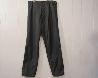 Vintage pants, work pants, 1960s pants, button fly, vintage workwear, vintage clothing, 35 x 33.5