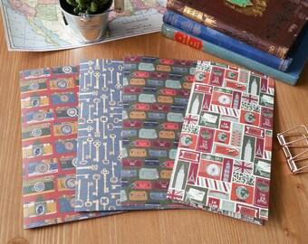 Road Trip Midori Travel Personal Journal Notebook Insert Pocket
