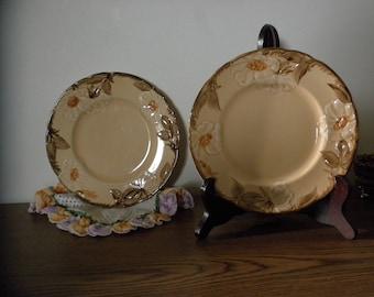 Brown Franciscian Vintage Plates