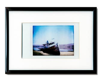 "Fine Art Photography ""Shipwreck"" Framed Instax Mini Print"