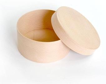 Round wooden box  120*60 mm