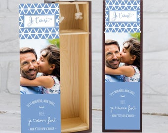 Box wine to customize with your photo. A personalized and original gift that will please all dads