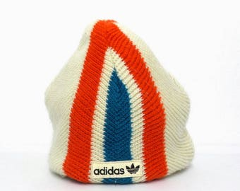 Adidas Beanie VINTAGE Adidas Trefoil Color Block Beanie