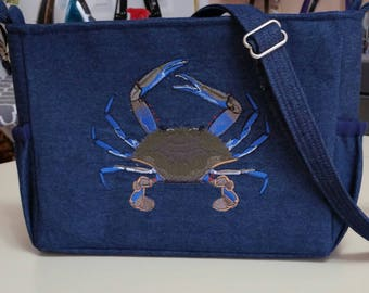Maryland Blue Crab  Purse (made in USA)