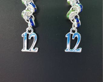 Number 12 earrings