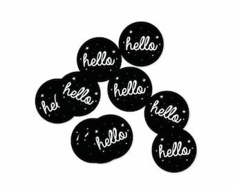 Set of 10 Stickers Hello
