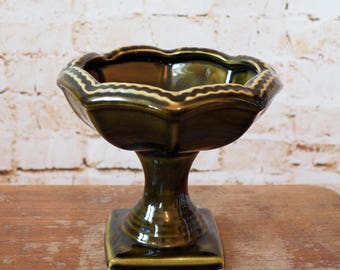 Devonway Kingsbridge Green Pedestal Bowl