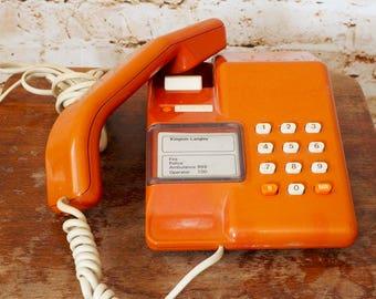 BT Viscount Retro Orange Push Button Telephone