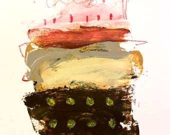 Original Abstract Art on paper, modern home decor, expressionism