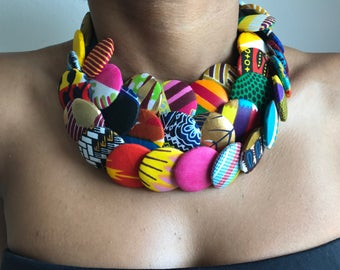 Multicolored Maasai necklace