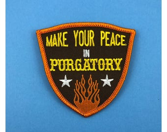 Wynonna Earp Purgatory Travel patch Wayhaught Emily Andras LGBT Earpers Lesbian patch Gay Girls Pride retro vintage Iron on patch Clexacon