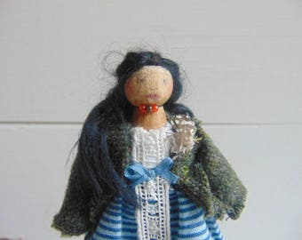Cathy Earnshaw, Limited Edition Doll, Wooden Dolls, Peg Dolls, Unique Handmade Doll, Collectable Doll, Heirloom Doll by Litpegs
