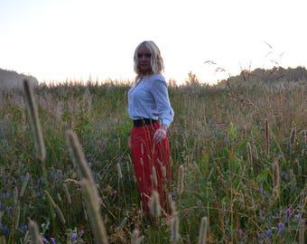 Skirt long skirt red skirt maxi skirt