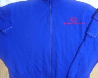 Sergio Tacchini 90's Vintage Mens Tracksuit Top Jacket Blue