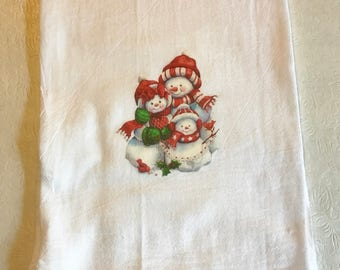 Snowman Flour Sack Towel