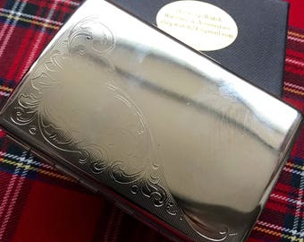 New And Taboo....Beautifully Engraved Petite Silver Cigarette Case