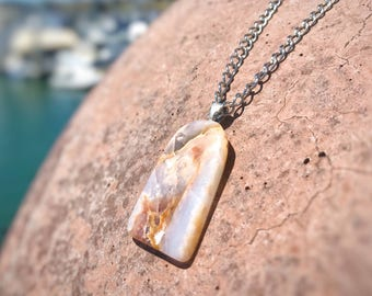 Lace Agate Necklace, Gemstone Necklace