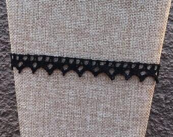 Black Choker, Upcycled Choker, Vintage Lace Choker, Crochet Choker, Choker Necklace