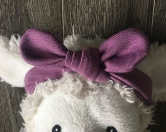 0-6 month topknot headband {purple}
