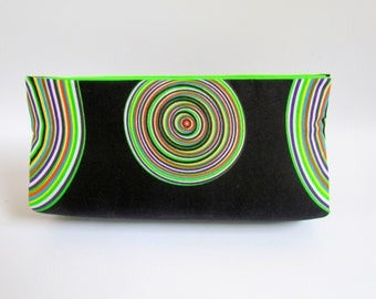 Party Clutch Purse, Black Unique Clutch Purse, Modern Clutch, Minimalist Clutch, Trendy Clutch, Chic Clutch, African Print Bag, Medium Purse