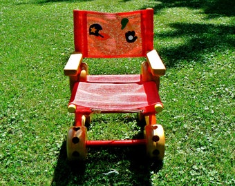 Rare Vintage Tinker Toy Child's Chair