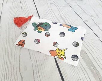SALE, zipper pouch, pokemon zipper bag, pencil case, zipped pouch, panda pouch, school suppliers, bag organiser, pokemon make up bag
