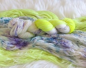 Midnight Summer Jam Hand Dyed Fingering Weight Sock Yarn for Knitting and Crochet