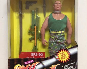 Capcom Street Fighter 2 Guile Action Figure, Brand New Sealed, 1993!