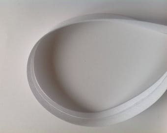 18mm white bias tape, sold by the yard