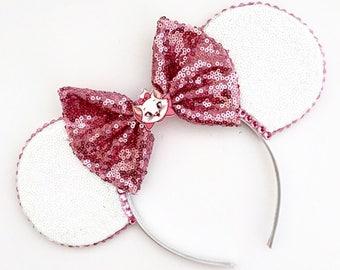 The White Cat - Handmade Disney Marie Aristocats Inspired Mouse Ears Headband