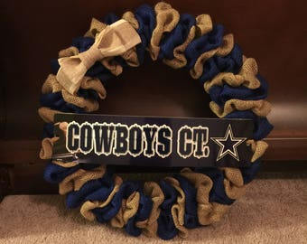 Dallas Cowboys NFL Burlap Wreath
