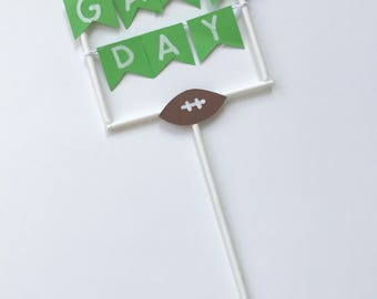 Game day cake topper