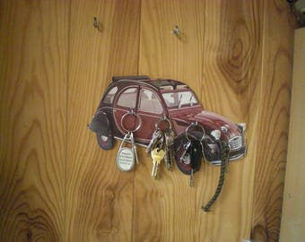 set of 6 doors key hanger