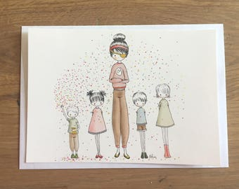 "Illustrated postcard ""pirates"""
